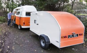 Vintage VW Campers Teardrop Trailer AKA The Nodpod