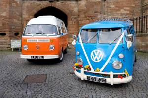 Vintage VW Campers ready to hire