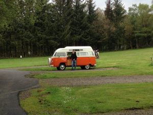 Campsite or wild camping in a Vintage VW Camper