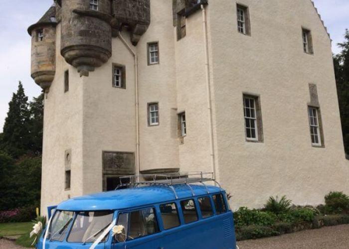 Meg from Vintage VW Campers at Tullibole Castle