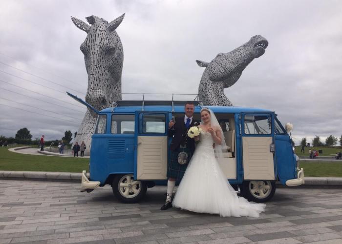 The Kelpies Vintage VW Campers Wedding