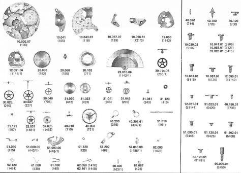 A Schild AS 2086 watch parts