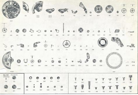 Enicar AR 1146 B watch parts