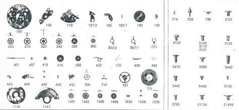 Enicar AR 764 watch parts