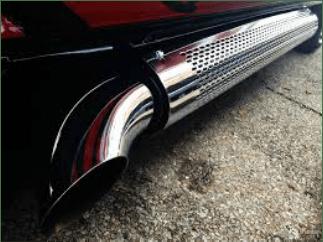 vintage van side pipe options and