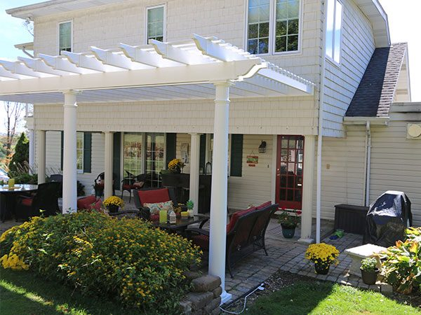 Attached Tuscany Large Garbrella Pergolas
