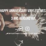Vinylestimes à Trois Ans.