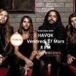 [Interview] - 213Rock Harrag Melodica reçoit le groupe HAVOK à 20 Heures.