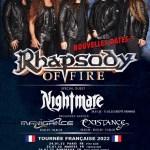RHAPSODY OF FIRE / NIGHTMARE / MANIGANCE - *EXISTANCE en 2022 1