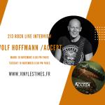 [Interview] - 213Rock Harrag Melodica reçoit Mardi 10 Novembre - Wolf Hoffmann du groupe Accept - 20 Heures.