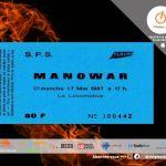 "MANOWAR LIVE ""Locomotive de Paris""– 17 Mai 1987 - By Dark Metal."