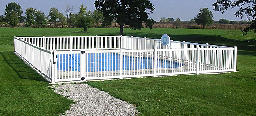 Vinyl Pool Fence Vinyl Semi Privacy Fencing Pool Fence