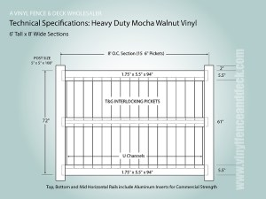 Mocha Walnut Vinyl Fence | Factory Direct | Vinyl Fence