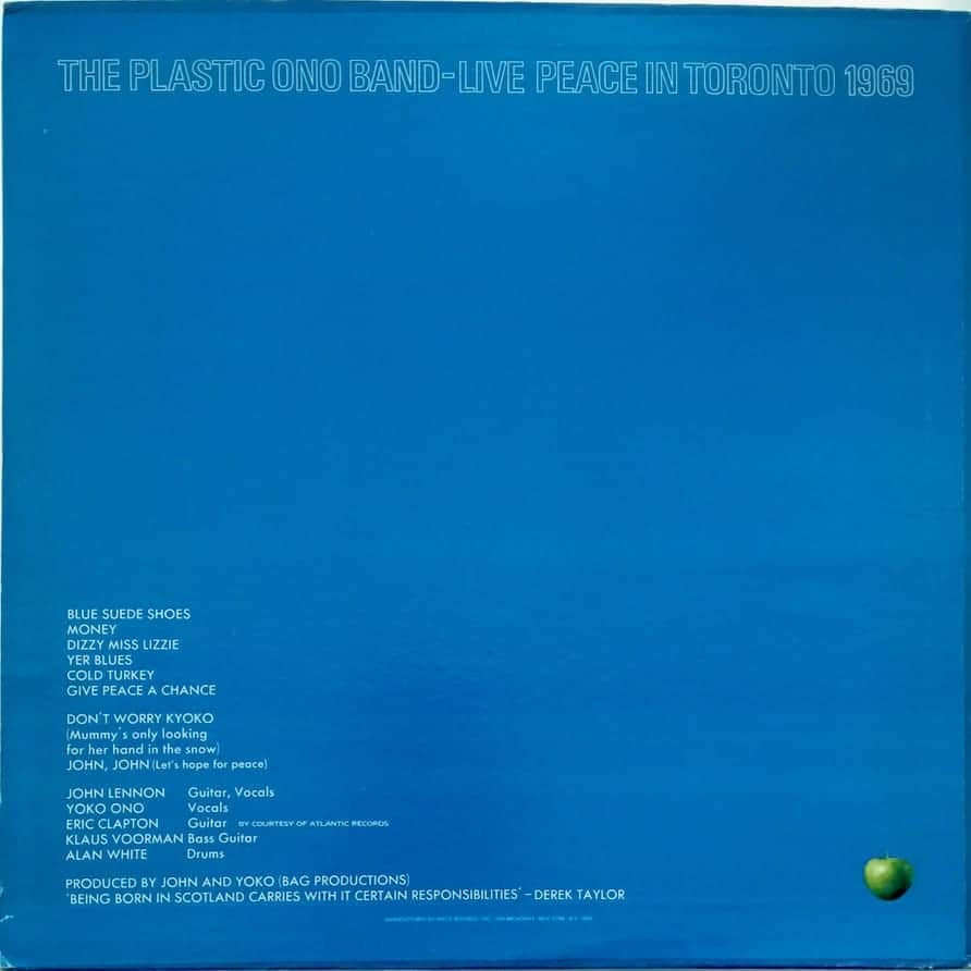 The Plastic Ono Band Live Peace In Toronto 1969