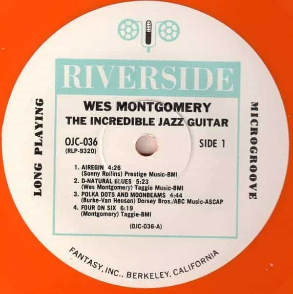 Wes Montgomery The Incredible Jazz Guitar Of Wes