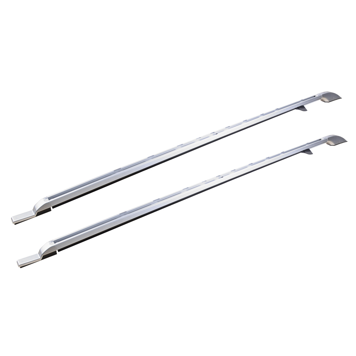 Silver Aluminum Roof Rack Extended Side Rail Carrier For