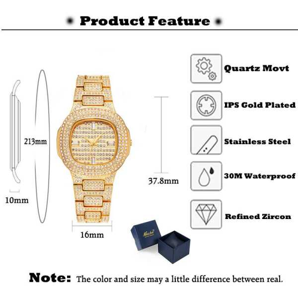 Miss Fox Ice Man Luxury Iced out Men's Watch for Fashion