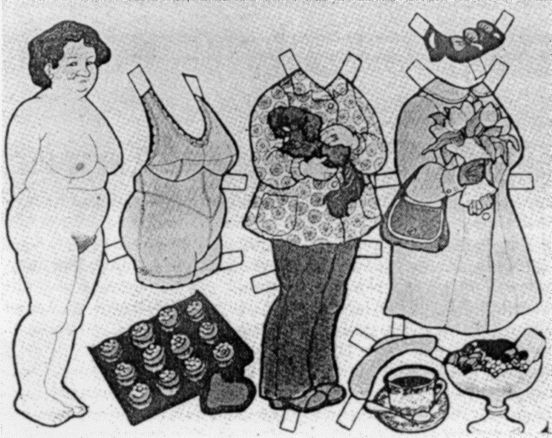 Swedish paper doll that does not hide or idealize female sexuality