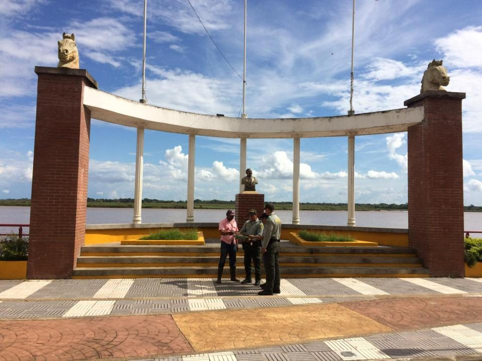 Policía de turismo realizó campaña sobre el patrimonio en el municipio de Orocué