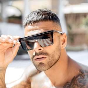 óriási kocka női férfi napszemüveg