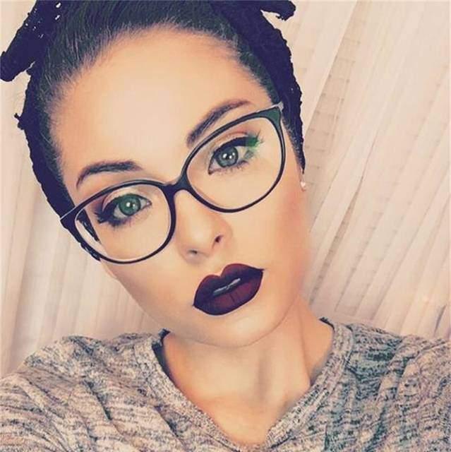 Nelli fekete dioptria nélküli divatszemüveg ⋆ Violet Bizsu