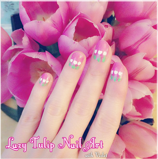 tulip nail art tutorial 1