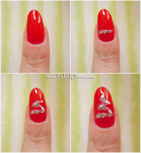 Lazy Christmas Nail Art Tutorial Violet Lebeaux 2