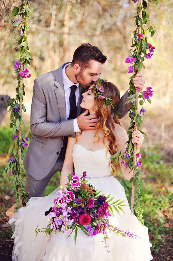 Weddings: Romantic Floral Tree Swings 2