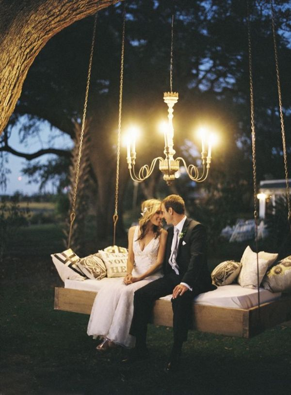 Weddings: Romantic Floral Tree Swings 4