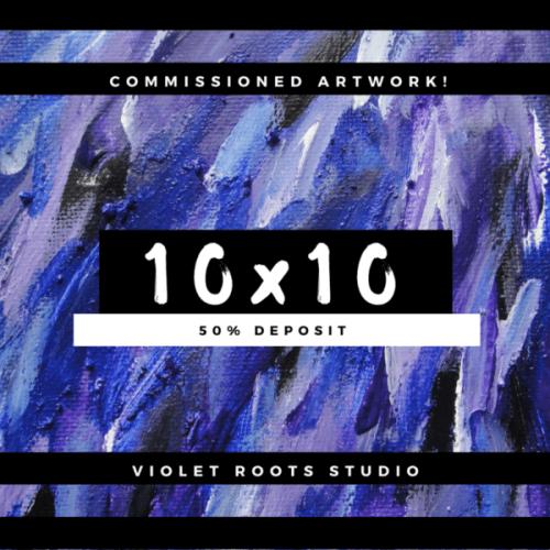 10x10 Custom Canvas Panel Abstract Art Piece - DEPOSIT