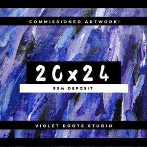20x24 Custom Canvas Panel | Abstract Art - DEPOSIT