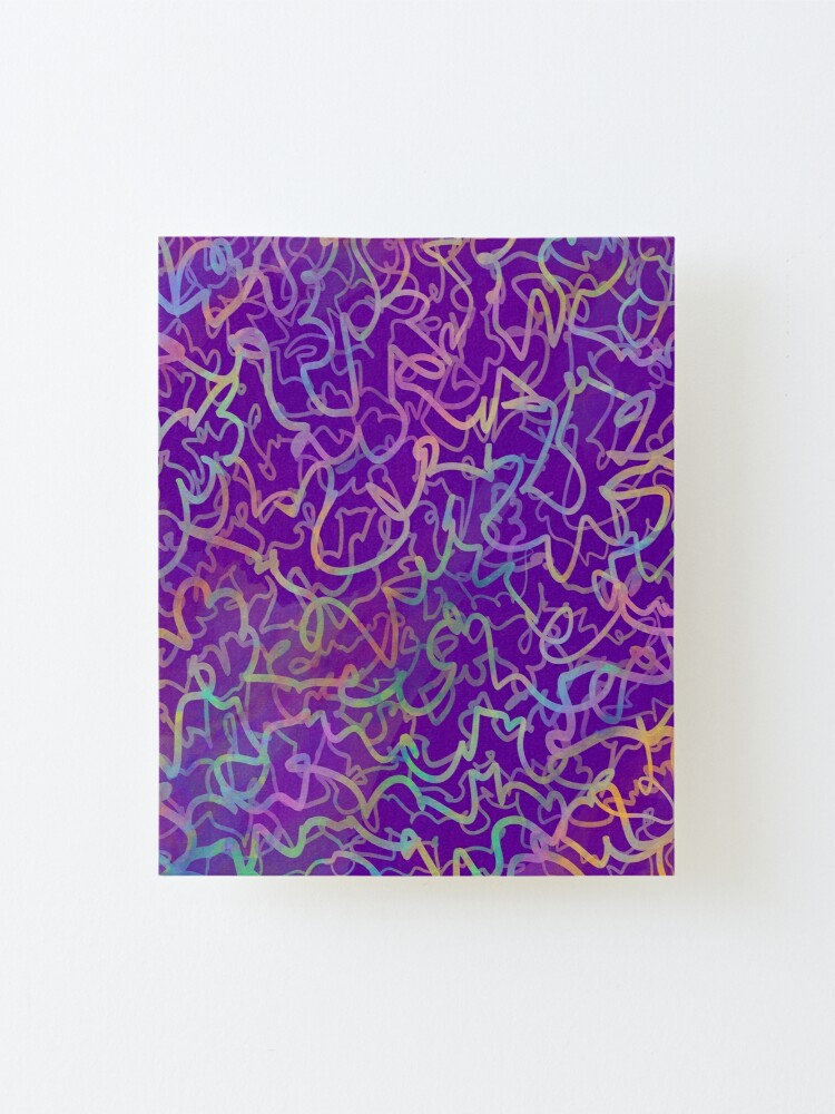 Portfolio - Violet Roots - Abstract Painting - Trivia