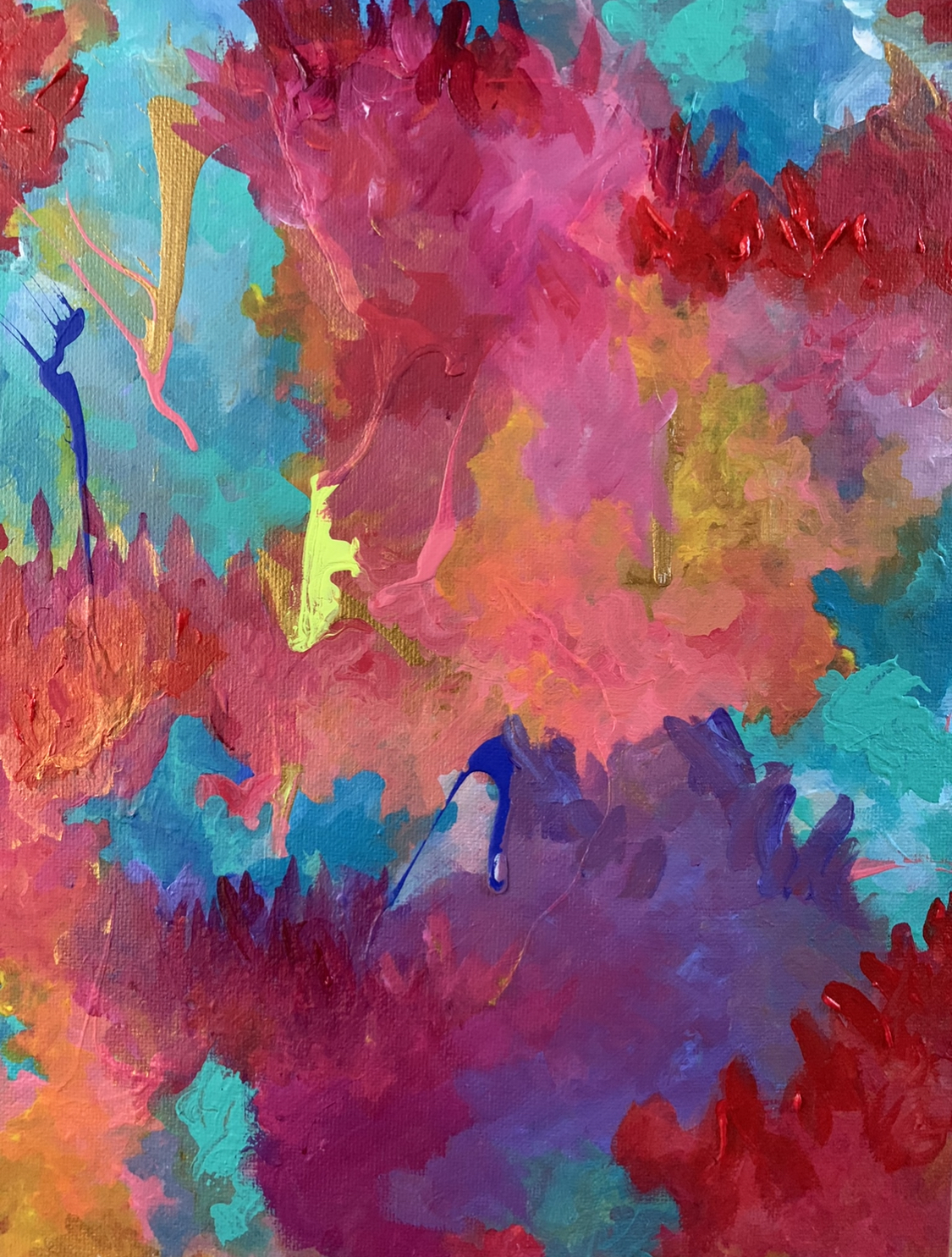 Violet Roots - Abstract Painting - Alligator
