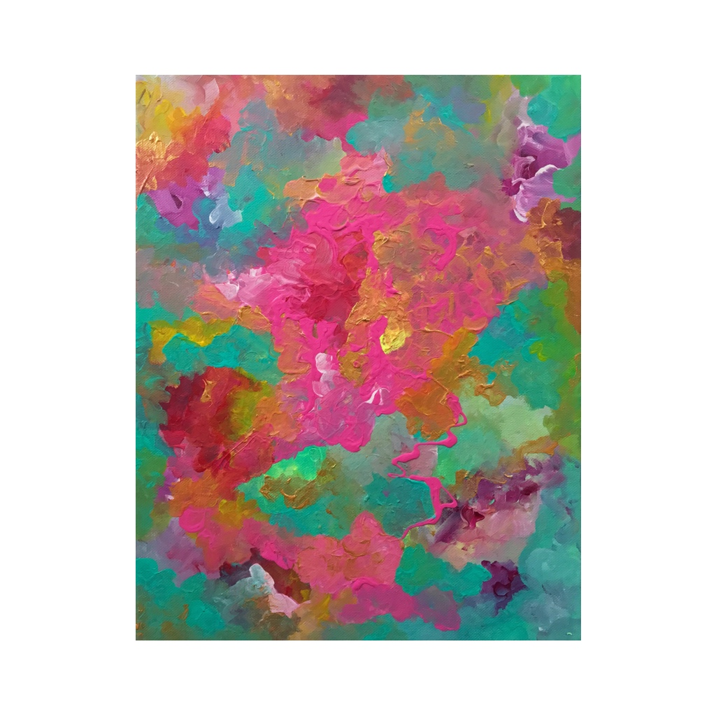 Portfolio - Violet Roots - Abstract Painting - Pink Lemonade