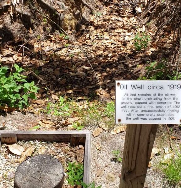 First oil well in Florida, Falling Waters State Park, Chipley, Florida