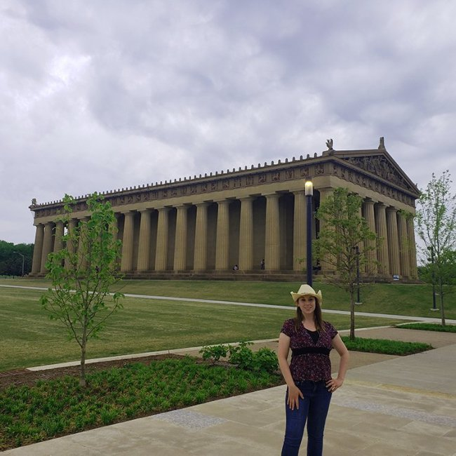 Violet Sky at the Parthenon, Nashville, Tennessee (Photo Credit: Violet Sky)