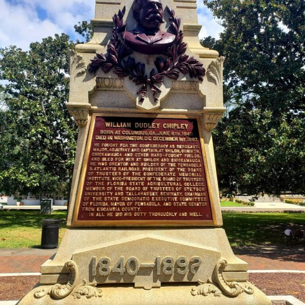 Statue of William Dudley Chipley, Pensacola, Florida