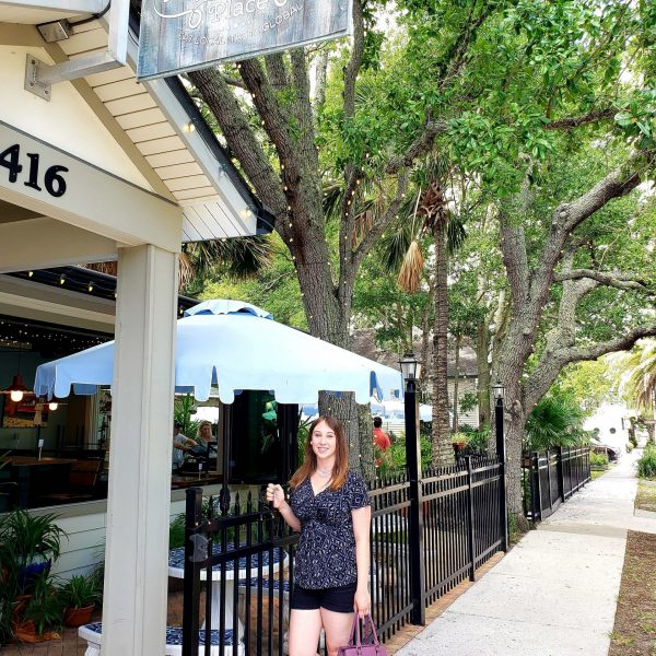 Violet Sky at the Patio Place in Fernandina Beach, Florida