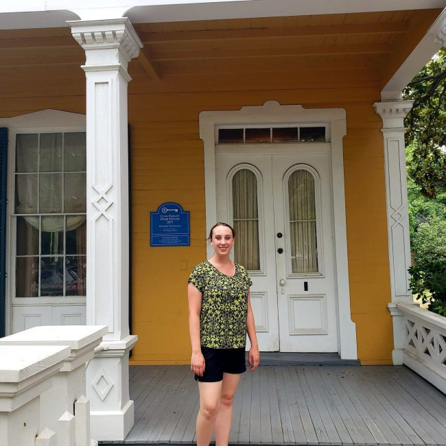 Violet Sky at the Clara Barkley Dorr House, Pensacola, Florida