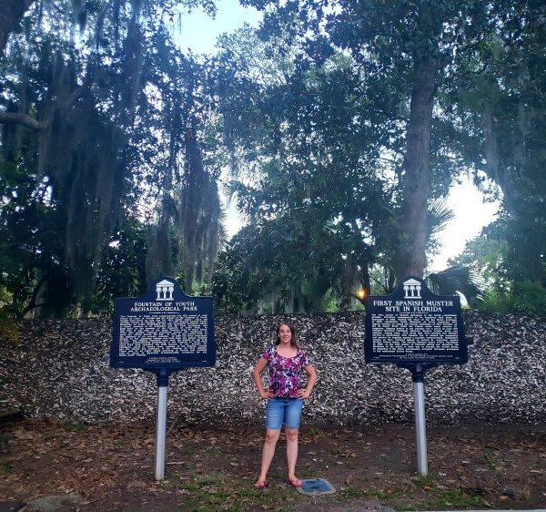 Violet Sky at the Fountain of Youth, St. Augustine, Florida