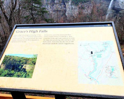 Violet Sky at Graces High Falls, Fort Payne, Alabama