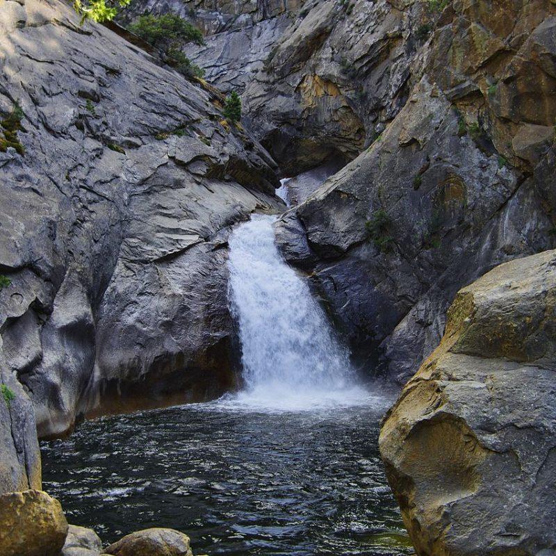 Roaring River Falls, Kings Canyon National Park, California (Photo Credit: Wikipedia)