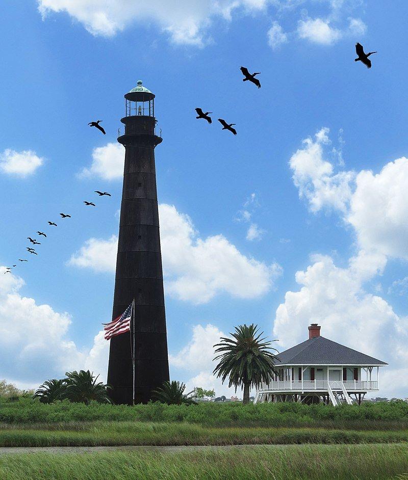 Point Bolivar Lighthouse, Point Bolivar, Texas (Photo Credit: Wikipedia)