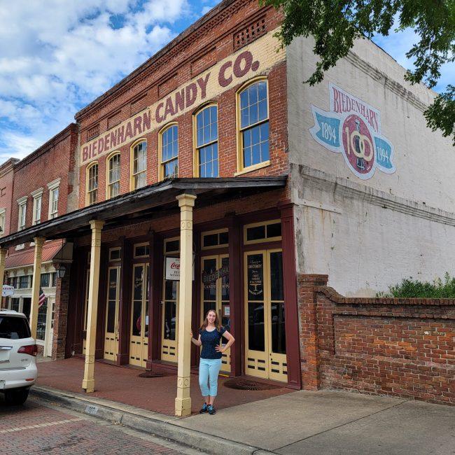 Violet Sky at Biedenharn Candy Company, Vicksburg, Mississippi (Photo Credit: Violet Sky)
