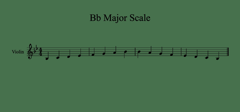 Bb Major Scale Sheet 1oct 2