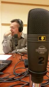 Digitális talkshow mindenkinek - Szilágyi Árpád az első műsor felvétele közben (fotó: Szokoli Kata)