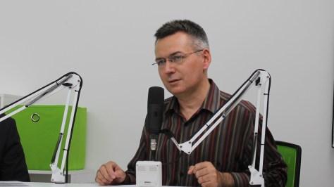 Szilágyi Árpád a DTM szeptember 12-i adásának rögzítésekor Fotó: Nemes Cilla