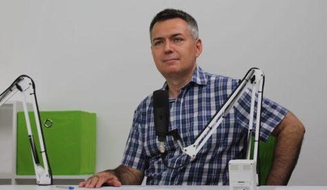 Szilágyi Árpád műsorvezető. Fotó: Nemes Cilla