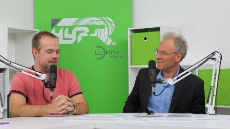 Molnár József a PC World főszerkesztője és Bódi Zoltán netnyelvész Fotó: Nemes Cilla