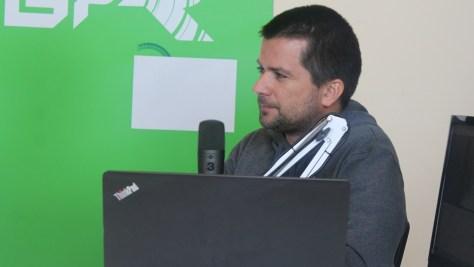 Szalay Dániel újságíró. Fotó: Nemes Ilona
